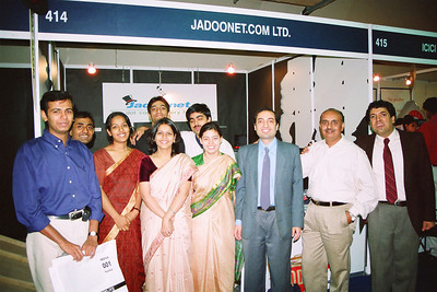 Staff at Live Wire BBS & Net participation in NASSCOM 2001