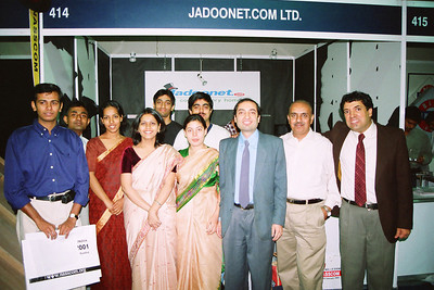 Group picture. Live Wire BBS & Net participation in NASSCOM 2001