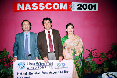 Live Wire BBS & Net participation in NASSCOM 2001