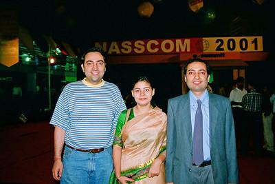Suchit, Divya & Anish Live Wire BBS & Net participation in NASSCOM 2001