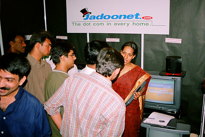 Jadoonet team. Live Wire BBS & Net participation in NASSCOM 2001