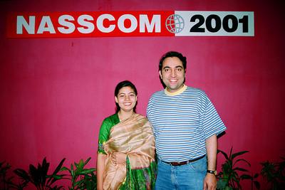 Divya & Suchit. Live Wire BBS & Net participation in NASSCOM 2001