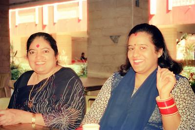 Amma and Sarika. Live Wire / Nanda Netcom office picnic and outing to Lonavala. All staff memebers and Nanda family went to Shahani Holiday Home, D T Shahani Road in Lonavala, Maharashtra.