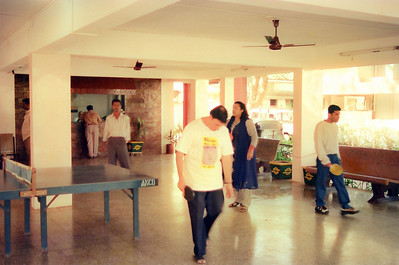 Enjoying a game of table tennis. Live Wire / Nanda Netcom office picnic and outing to Lonavala. All staff memebers and Nanda family went to Shahani Holiday Home, D T Shahani Road in Lonavala, Maharashtra.