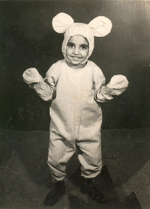Suchit in Bunny dress