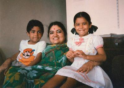 Piyush and Priya Seth with Sharda Nanda