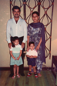 Karan Mama and Geeta Mami with Priya and Piyush