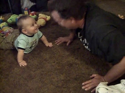 Baby PushUps. This is a video clip of Ry and Oliver. It's really funny.
