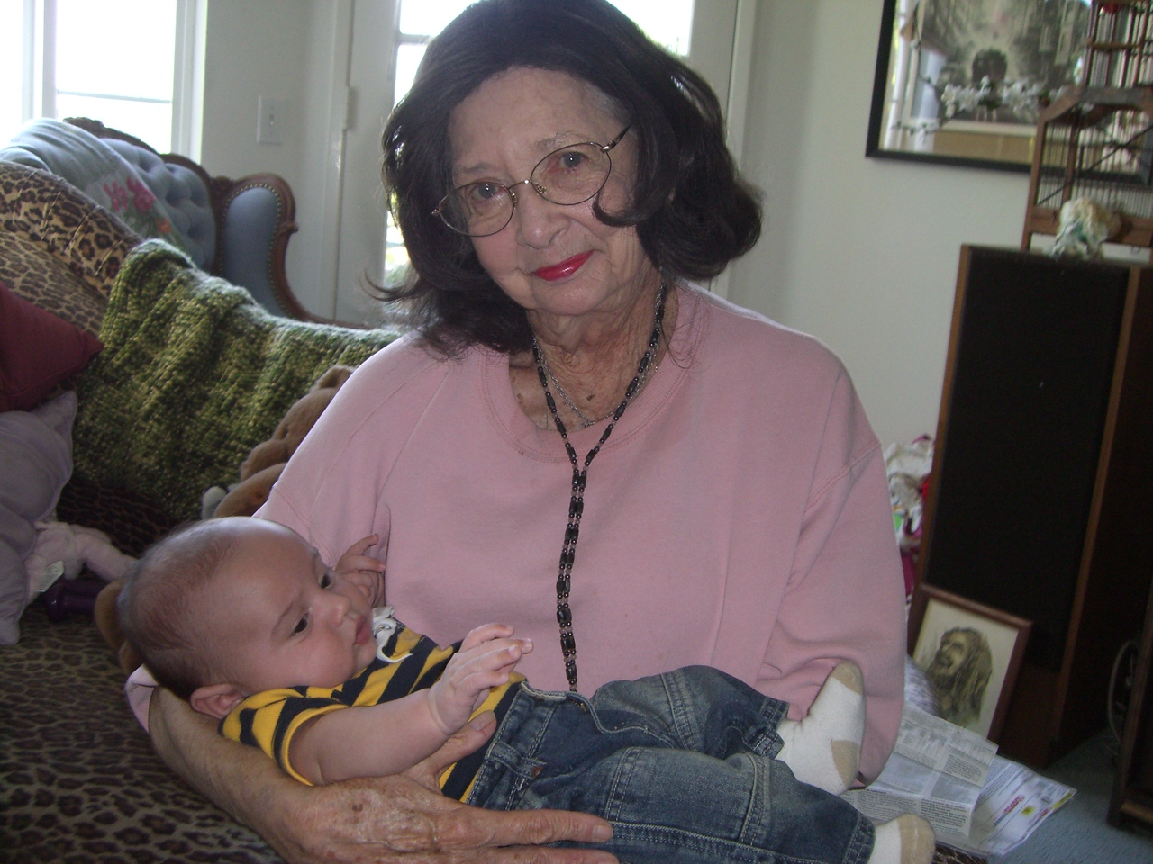 Oliver and Great Grandma Jean
