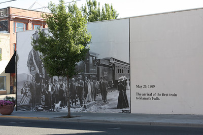 The painted walls of downtown Klamath Falls, Oregon.