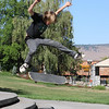Skateboarders practice at the west end of Veterans Park in Klamath Falls, Oregon.