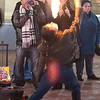 Fire-eater at Market Square