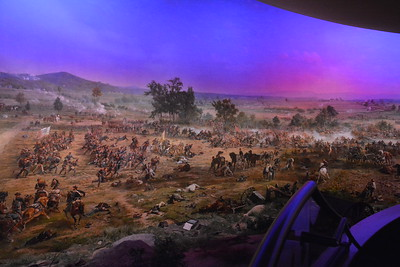 Part of the Cyclorama at the Gettysburg visitor center.  Oil on canvas painted in 1884, it stretches 377 feet.