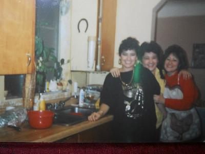 Rebecca Guizar, Delfina Frisch and Carol Soriano at Delfina's home.