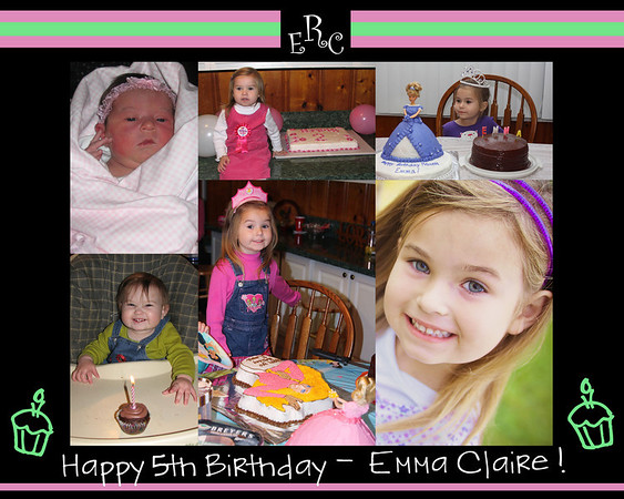 emma bday collage