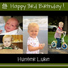 hunter bday collage