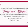 15th anniv invite