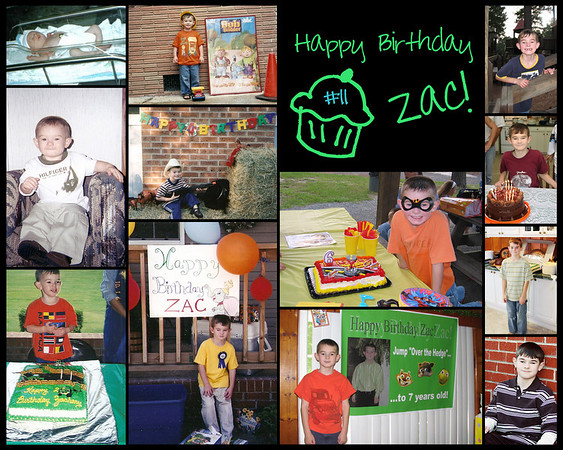 zac bday collage
