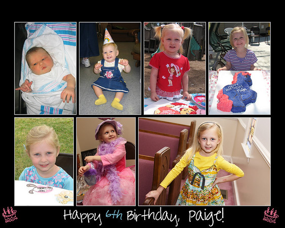 paige bday collage