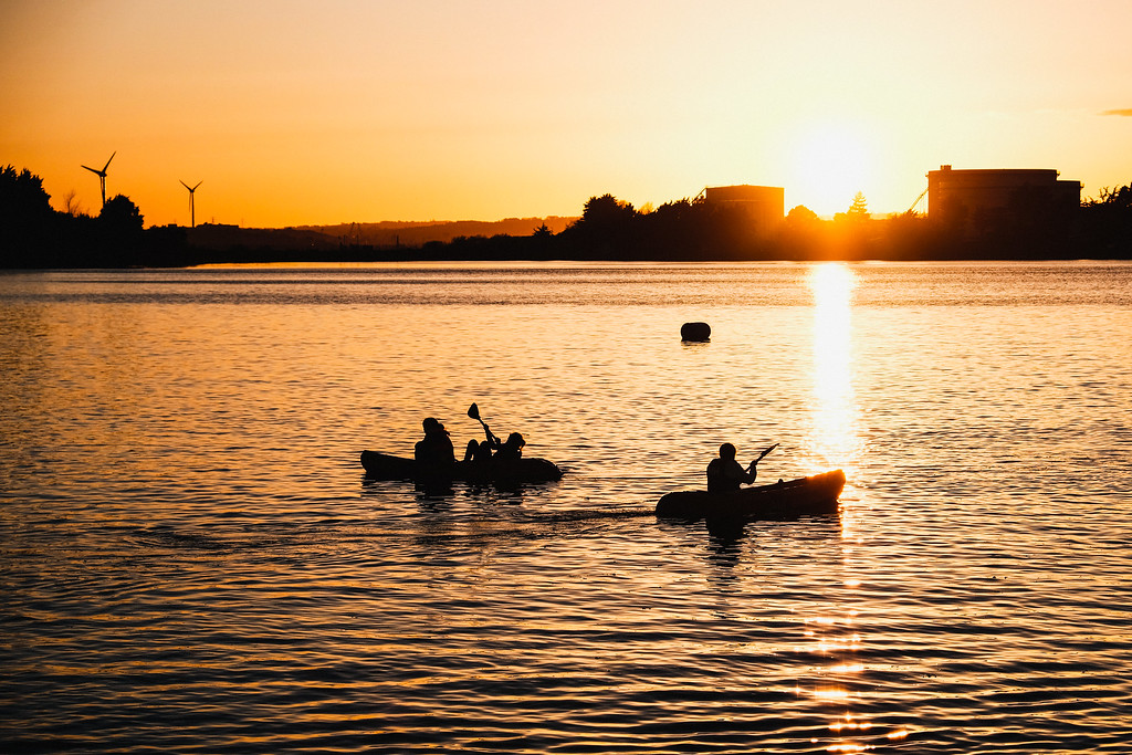 Aaron McMahon Night Kayak Fundraiser. Picture: Rory O'Toole