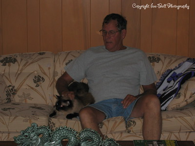 6/11/03  Dad and Tiki at Grandma's.