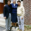 Cruise and Hoffman as they appear in the movie. They are standing with Sister Emerita who lived at the convent and was one of my colleagues at the college.