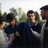 Here I am handing Tom Cruise a Thomas More College T-shirt. I don't recall for sure, but I don't think he even took the shirt. He certainly didn't put it on. Can't say I blame him.
