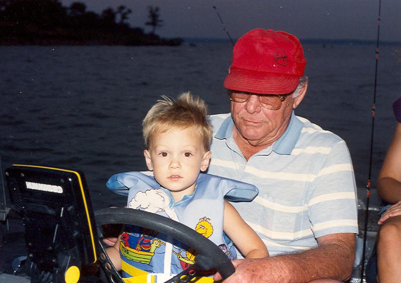 Papaw Bean & Kelley on boat 962x680