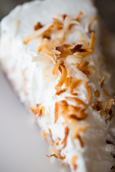 Brownie Bottom Coconut Pie