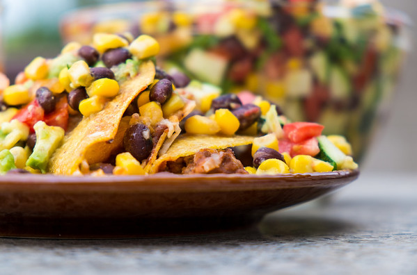 Baked Tacos with Grill Salad