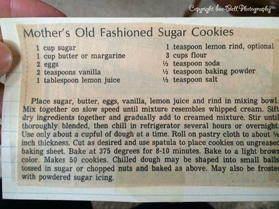 Mother's Old Fashioned Sugar Cookies