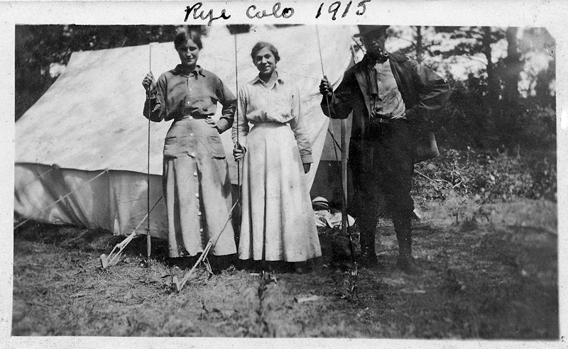 "Do you know the names of your ancestors?  These two women are my ancestors.  The lady on the left is Lydia, and Emma is to her right.  Lydia's husband called her, ""my little Dutch.""  Not  many women of the day were fisher people and fewer were flyfisher people   A fact I'm proud of, being a fly fisherman myself.  There may not be a proper term for a lady who fishes with flies?   You are either a fisherman or a fisherperson.<br /> <br /> Lydia and Emma are not very common names these days.  Nor are the names of many of my other ancestors.  Ira, Jenkins, Orville, Platt, Silas, Ketura, and Martha among them.  Trevor, Skyler, Tyron, Peyton, Addison, and Kayla might have seemed foreign names to Emma and Lydia.  Biblical names seem to have held their own, which seems appropriate, as several of the apostles were fishermen.<br /> <br /> Things change in ways that are sometimes hard to understand.  At one time folks thought fish were a nearly limitless renewable resource.  Now we practice catch and release and many of the large ocean fish are endangered.  In 1915 there were about one and a half billion people on the earth.  Today there are about 7 billion, and in thirty more years there will be about 9 billion.  Playing the odds, there could be 10 Einsteins and Gandhis among the next generation.  We may need them.<br /> <br /> Hopefully we will have fly fishing and fisherpeople for a long time.  And we will eventually have a proper term for women who fish with flies.<br /> <br /> ""The most beautiful and most profound experience is the sensation of the mystical.  He to whom this emotion is a stranger, who can no longer wonder and stand rapt in awe, is as good as dead. To know that what is impenetrable to us really exists, manifesting itself as the highest wisdom and the most radiant beauty which our dull faculties can comprehend only in their primitive forms - this knowledge, this feeling is at the center of true religiousness.""<br /> ( Albert Einstein)"