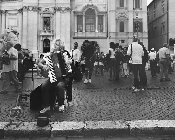 Russian Accordion Player