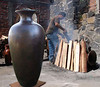 "72"" tall BIG Pot; $3000 MXN. <br /> <br /> I am selling two ""gigantes"". These pots are made totally by hand and fired as you see in this photo. The clay is volcanic clay which allows for this height. The artist Miguel is one of the few artists able to make this perfect form."