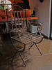 Set of 6 forged iron chairs, powder coated. Sold as a set. Price: $6000 MXN. <br /> <br /> I had these made and paid $2500 each. Very good price!