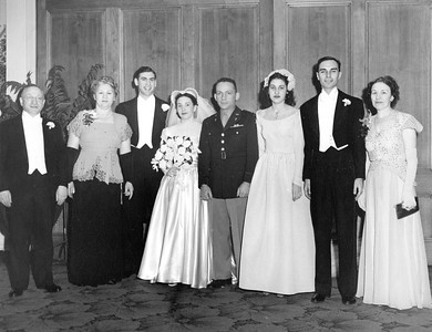 Bike and Sisi's Wedding - Morris, Rose, Bike, Sisi, Billy - and Adabelle Gibbs, Bert Kaufman and Grace Kaufman