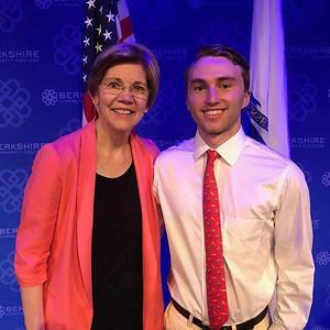 Ben Schiller with Elizabeth Warren