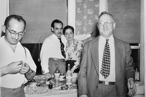 (L-R) Philip Davis, Moe Levy, Lucy Levy, Morris Schiller
