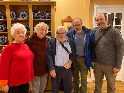 (l-r) Marge Schiller, Henrietta Davis, Simon Schiller, John Schiller and Zak Schiller