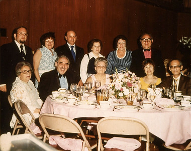 Top from left - Sidney and Marlene Davis, Lennie and Millie Lan, Cyl and Saul Levy.  Bottom - Bessie, Moe and Lucy Levy.jpg