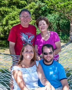 (Back) Allen, Barbara, (front) Lauren and Jeff