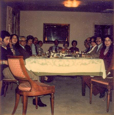 Passover 1973 Allen, Ellen, Dr. Halpern, Aunt Mimi, Uncle Bert, Aunt Sara, Donald, Grandma, Mom, Grandma S., Uncle Nat, Aunt Mildred, Richard, Debra