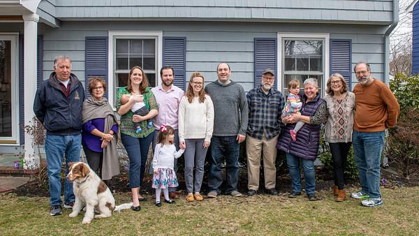 Allen, Barbara, Lauren, Drew, Jeff, Claire (front), Edith, Zak, Steve Butterworth, Eve, Pat Butterworth, Denise, John