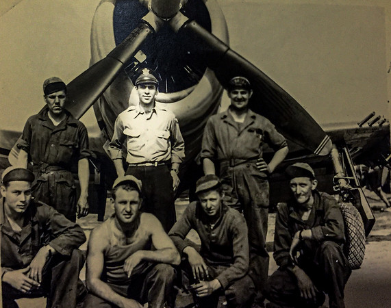 """Captain """"Moldy"""" Schiller in the Army Airforce during WW II in the UK.JPG"""