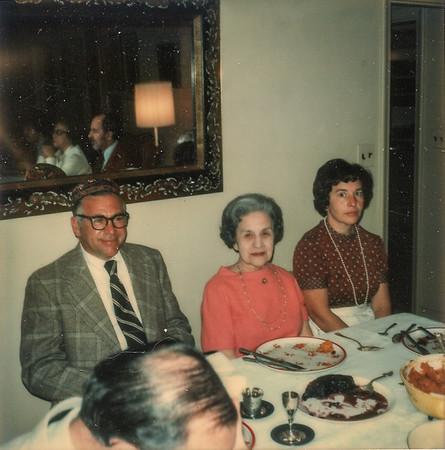 Passover 1973 Dad Grandma K., Mom