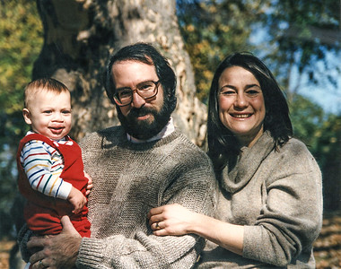 John and Denise's first holiday picture with Zak