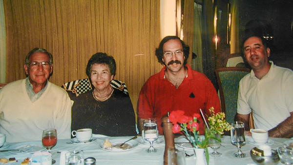 Byron Sisi John and Allen on a cruise in 1995