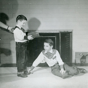 John and Allen posing for a painting