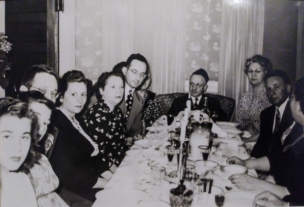Passover dinner in the 40's