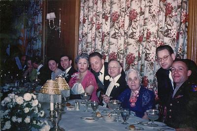 Byron and Alice's Wedding - (r-l)  Billy Ike, Ruchl, Morris, Abe, Rose, Bike, Sisi